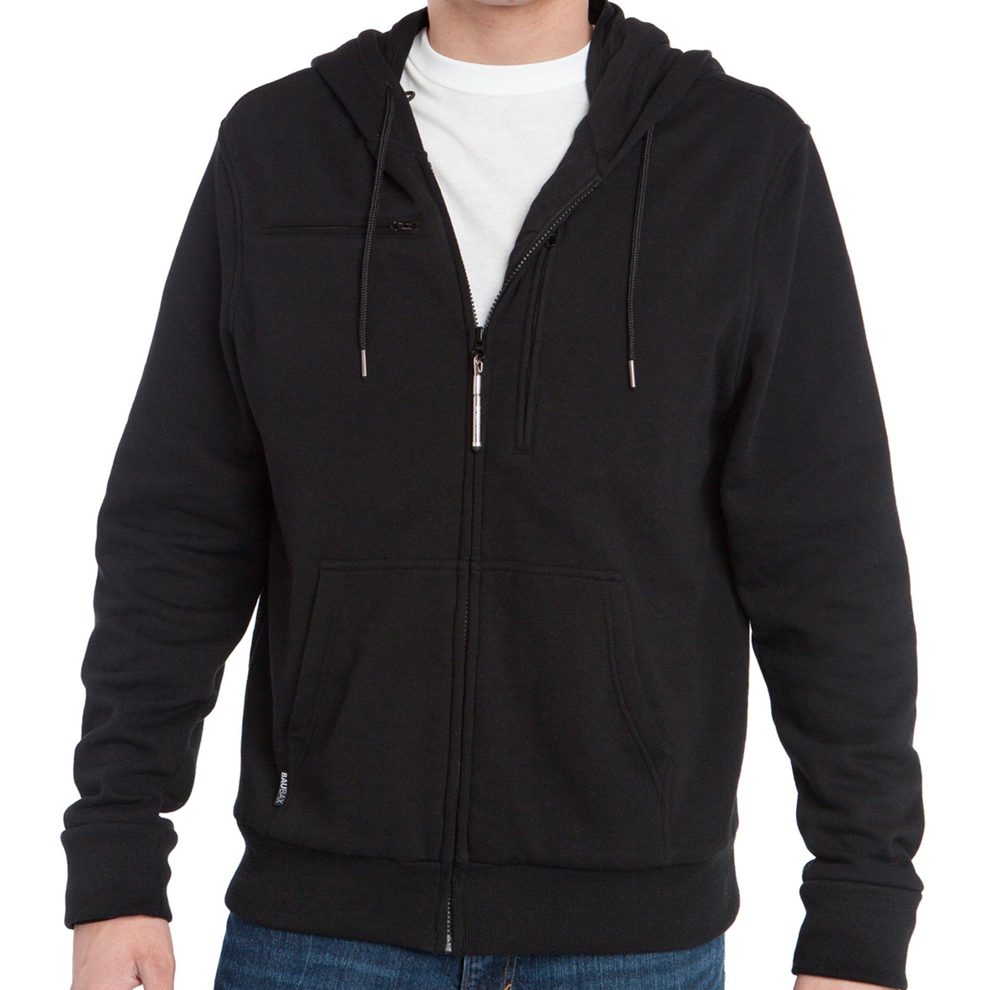 Baubax Travel Jacket - Sweatshirt - Male - Black - Large