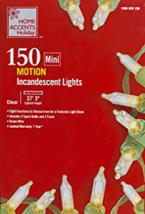 Home Holiday Clear Motion String Lights - 150 Light Show Lights with 8 Funstions
