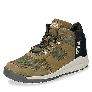 c63fe43989c9 Fila Scarpe Uomo Sneakers Norton MID in Pelle Verde 1010498-50K ...