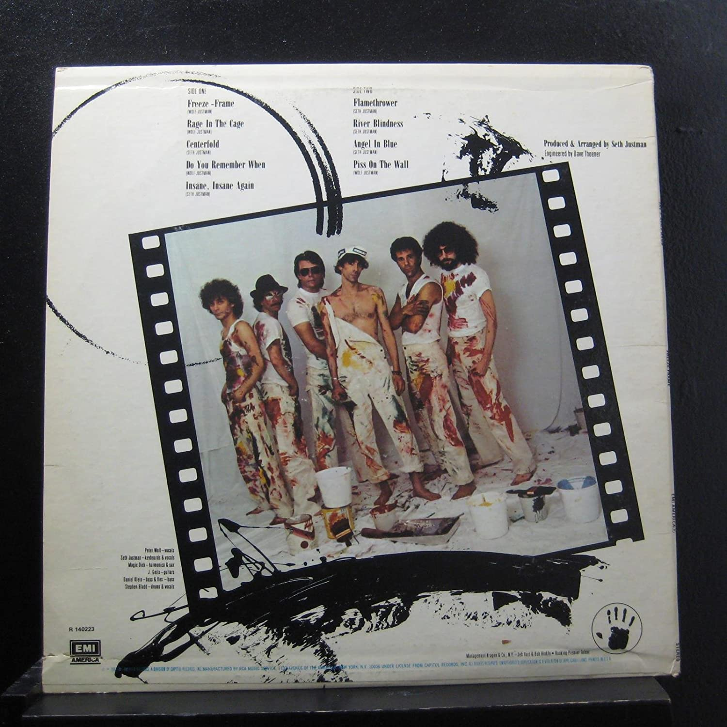 The J. Geils Band - The J. Geils Band - Freeze-Frame - Lp Vinyl ...