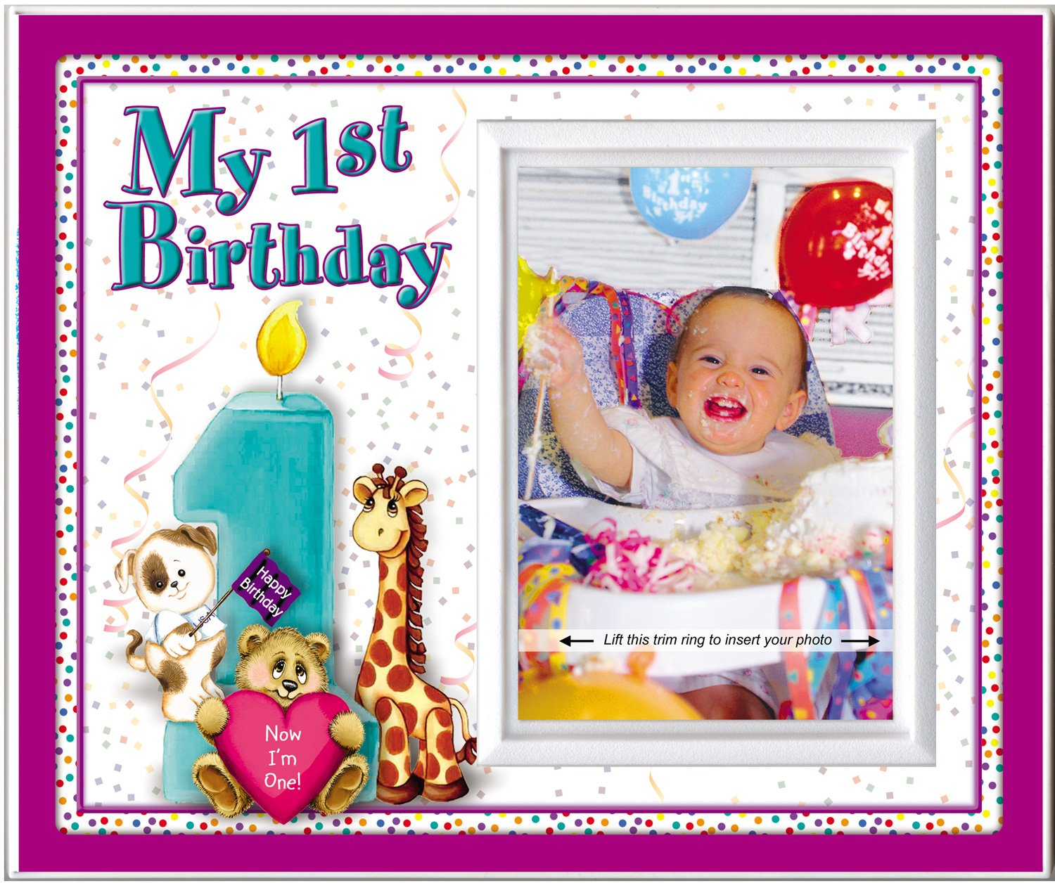 Amazon.com : My First Birthday - Picture Frame Gift : Childrens ...