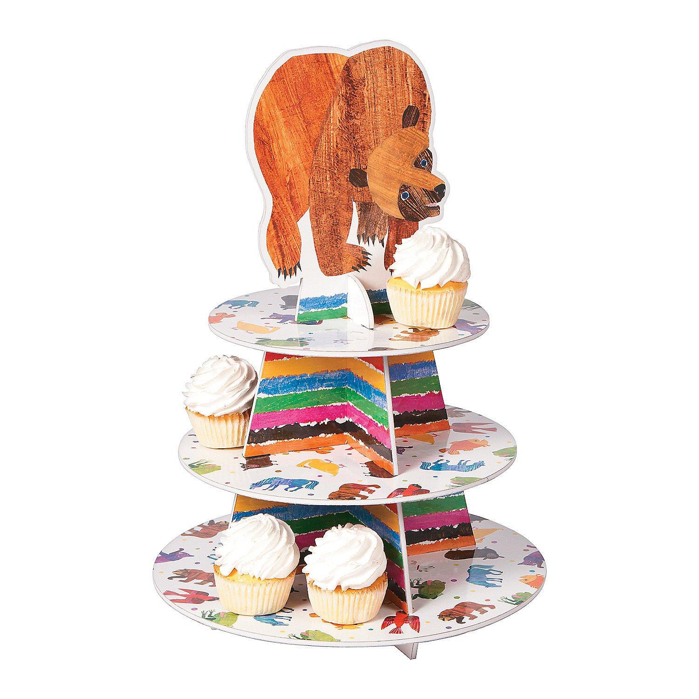1 Piece Brown Bear Cupcake Holder for Birthday Misc Serveware /& Barware Fun Express Party Supplies Serveware /& Barware Birthday