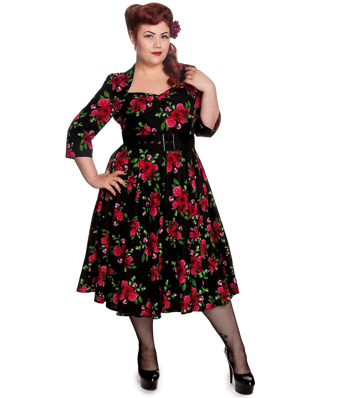 Hell Bunny 50s Eternity Floral Vintage Dress Black Amazon