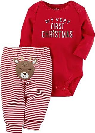 carters baby my 1st christmas reindeer 2 piece bodysuit pants set 9 months - Christmas Reindeer 2