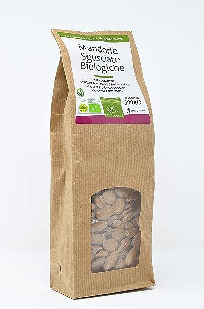 Almendras sin cáscara 500 gr - Producido por agricoltura organica