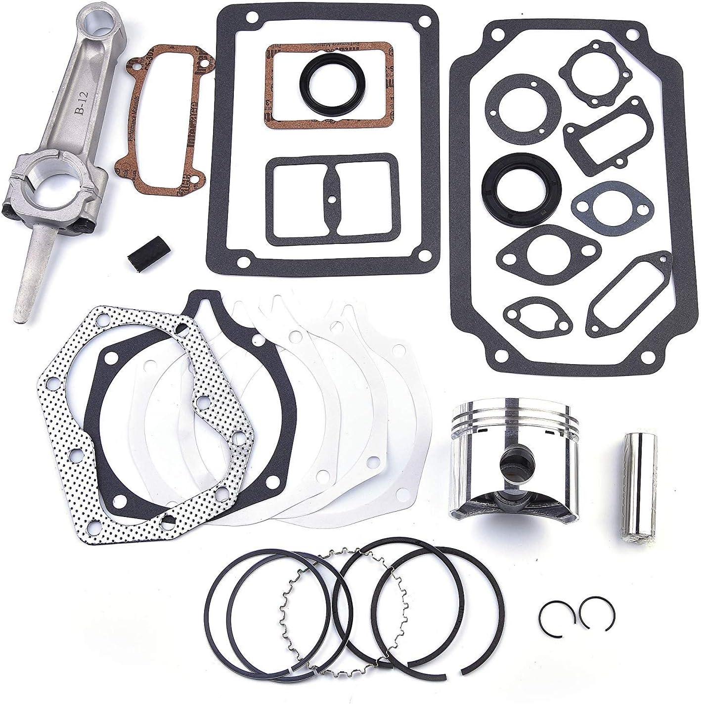 Engine Rebuild Kit Piston Rings Connecting Rod For Kohler M12 K301 12HP Standard