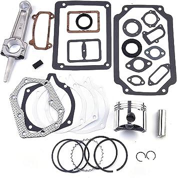Engine Rebuild Kit for KOHLER 12hp K301 M12 w// Standard Piston Rod /& Gaskets
