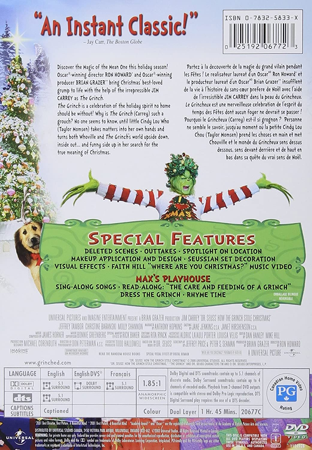 amazon com dr seuss u0027 how the grinch stole christmas widescreen