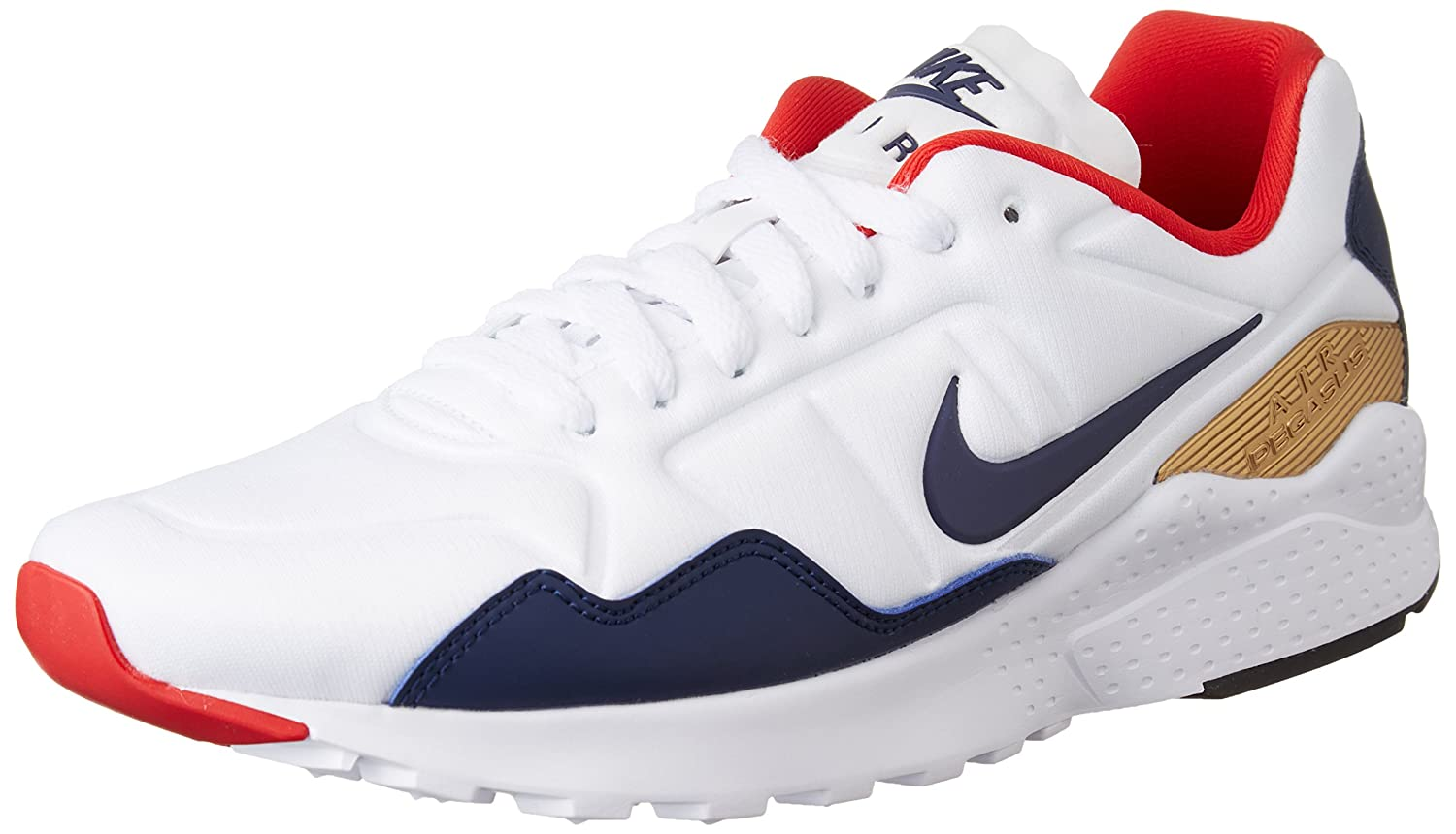 a4808e8494c102 Nike Men s Air Zoom Pegasus 92 White Midnight Navy Mtllc Gold Running Shoe  10. 5 Men US  Buy Online at Low Prices in India - Amazon.in