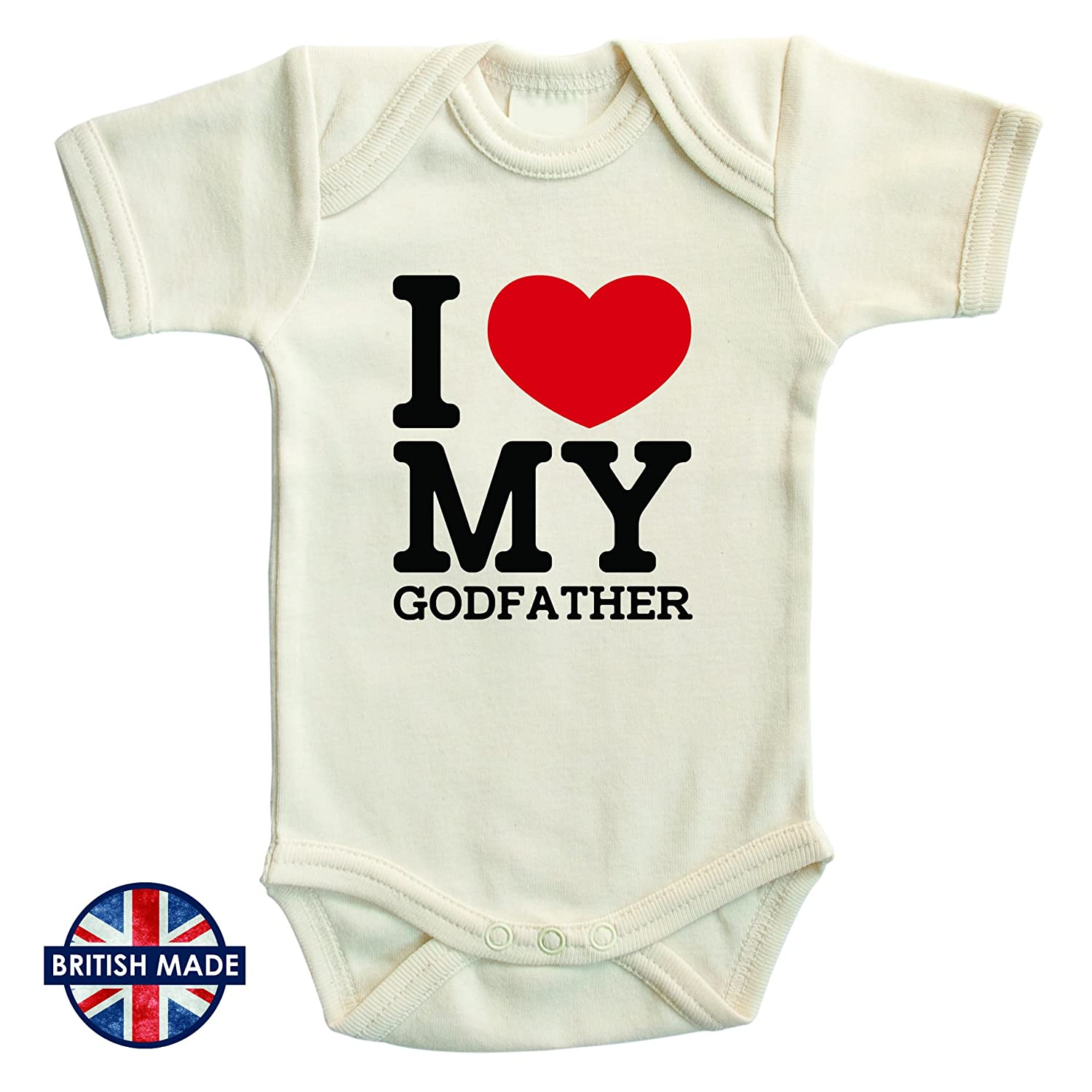 I Love My Godfather Baby Bodysuit with supersoft cotton Baby