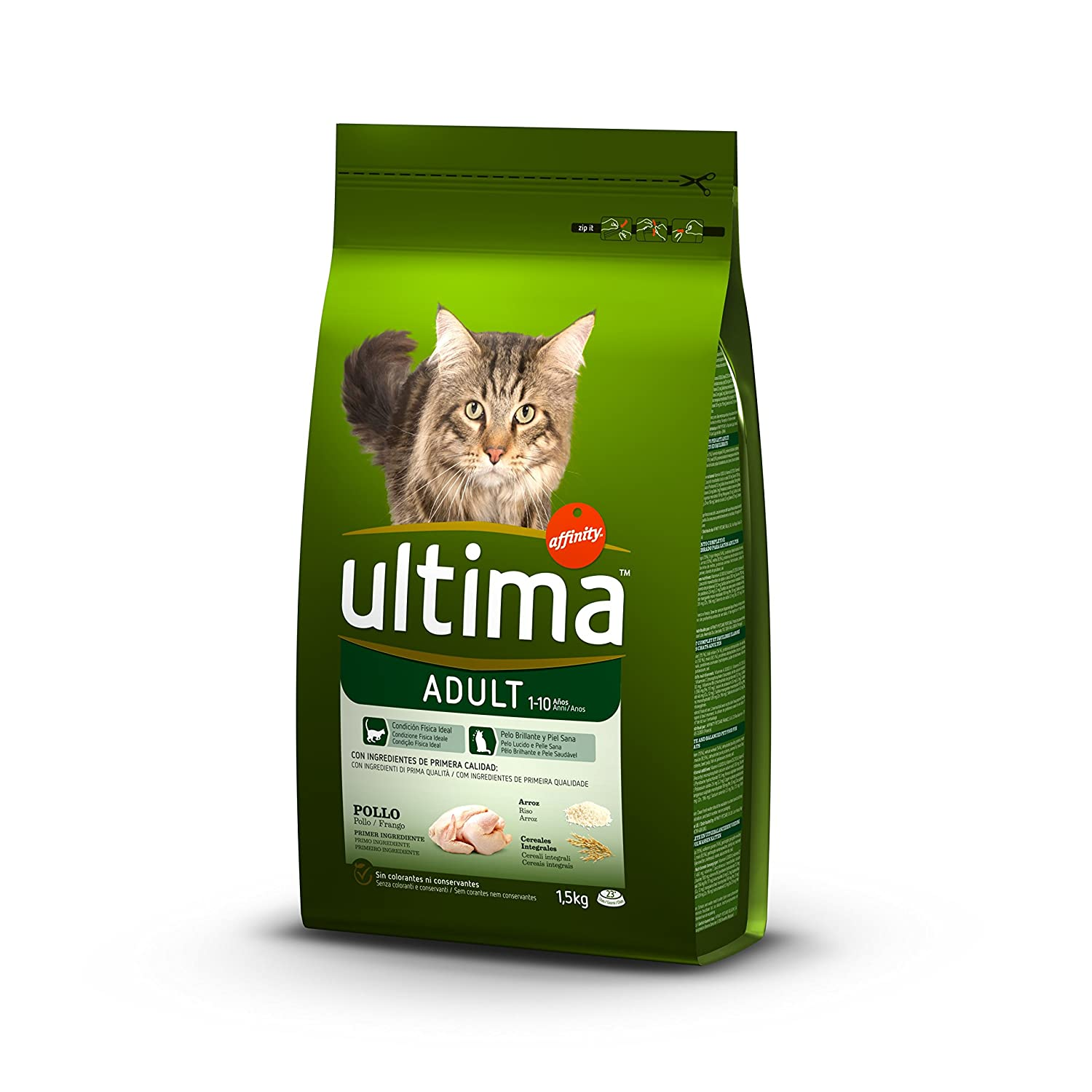 Ultima Alimento Para Gatos Adultos, Sabor de Pollo - 1500 gr: Amazon.es: Amazon Pantry