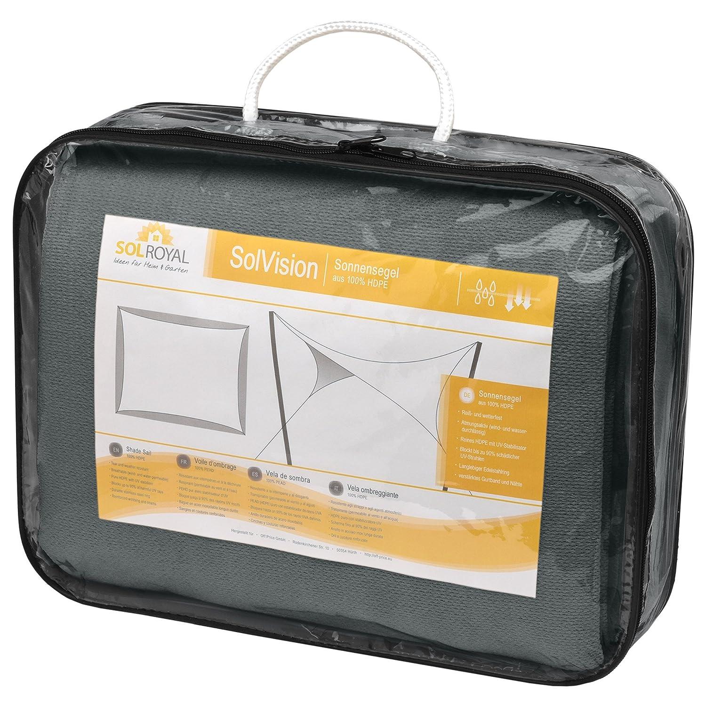 Protezione Rettangolare Parasole e Anti UV Sol Royal Tenda a Vela Traspirante SolVision HS9-2x3m Antracite