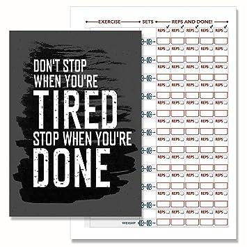 weight training log book