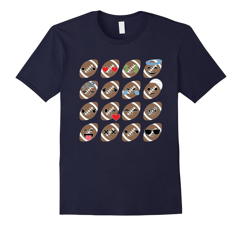 Rugby American Football Emoji Face Emotion Shirt T-Shirt Tee-CD