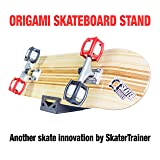 SKATERTRAINER A Place for Your Skateboard, Store or Display in Style with an Original Skateboard Stand | The Origami Skate Rack by Skater Trainers