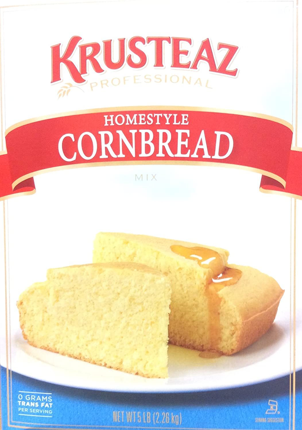 Amazon.com : 5 Pounds Krusteaz Homestyle Cornbread Mix Just Add Water Restaurant Quality : Pancake Mixes : Grocery & Gourmet Food