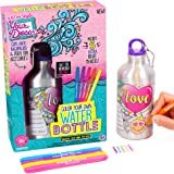 Just My Style Your Decor Color Your Own Water Bottle By Horizon Group Usa, DIY Bottle Coloring Craft Kit, BPA Free Aluminum 16.9fl oz Drinking Water Bottle, Decorate Using Colorful Markers & Gemstones