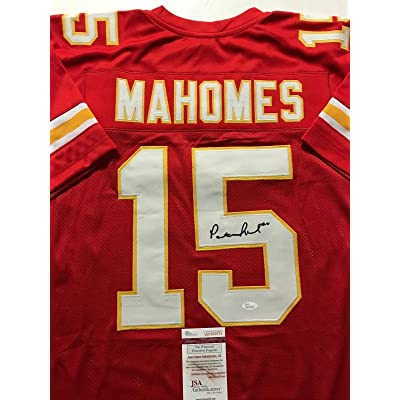 190ef2735a1 Patrick Mahomes Signed Jersey - Red COA - JSA Certified - Autographed NFL  Jerseys