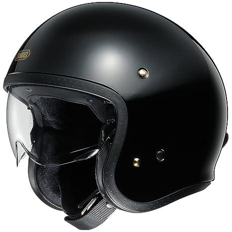 Shoei J.O Open Face Motorcycle Helmet XS Black