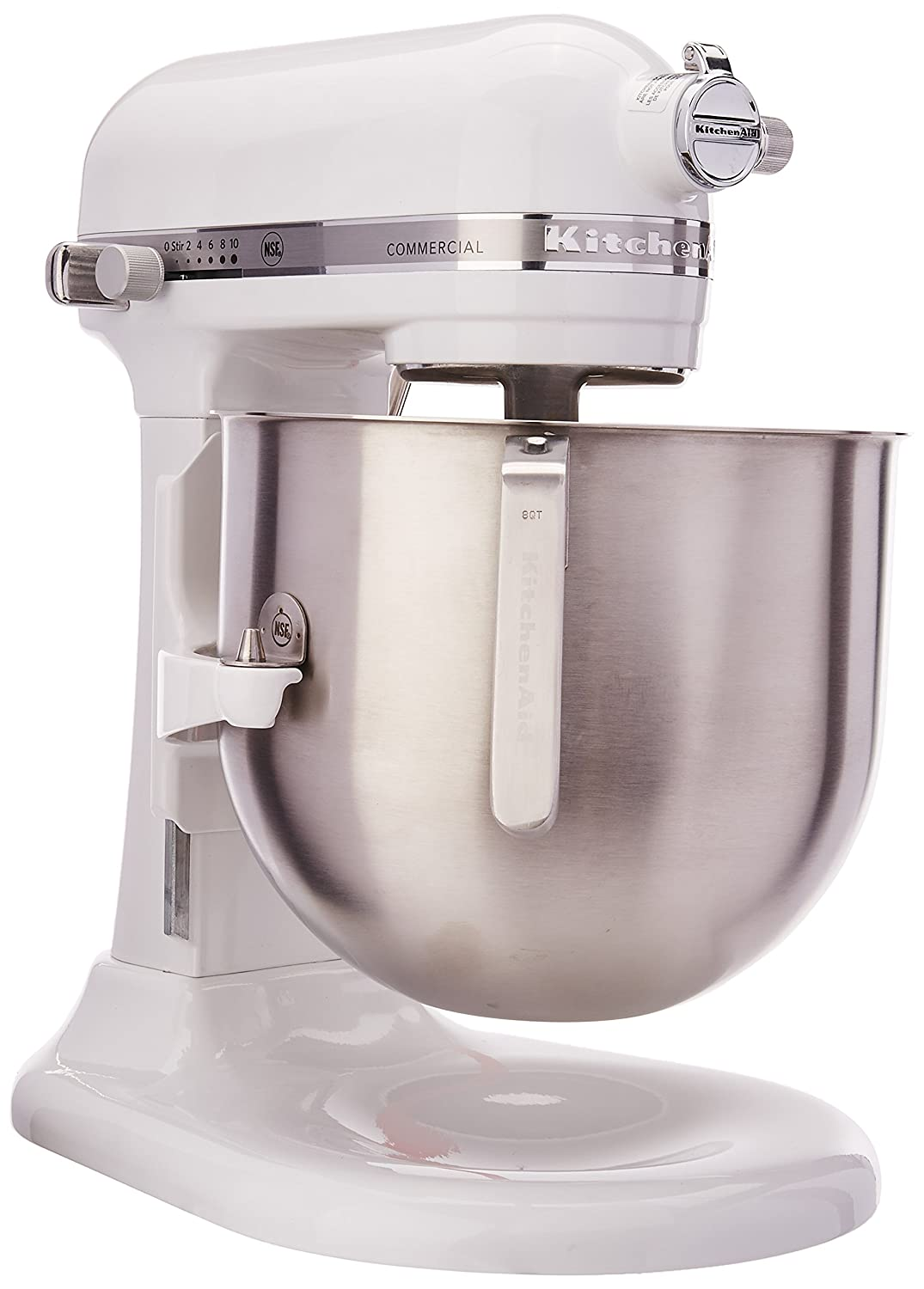 KitchenAid KSM8990WH 8-Quart Commercial Countertop Mixer, 10-Speed, Gear-Driven, White