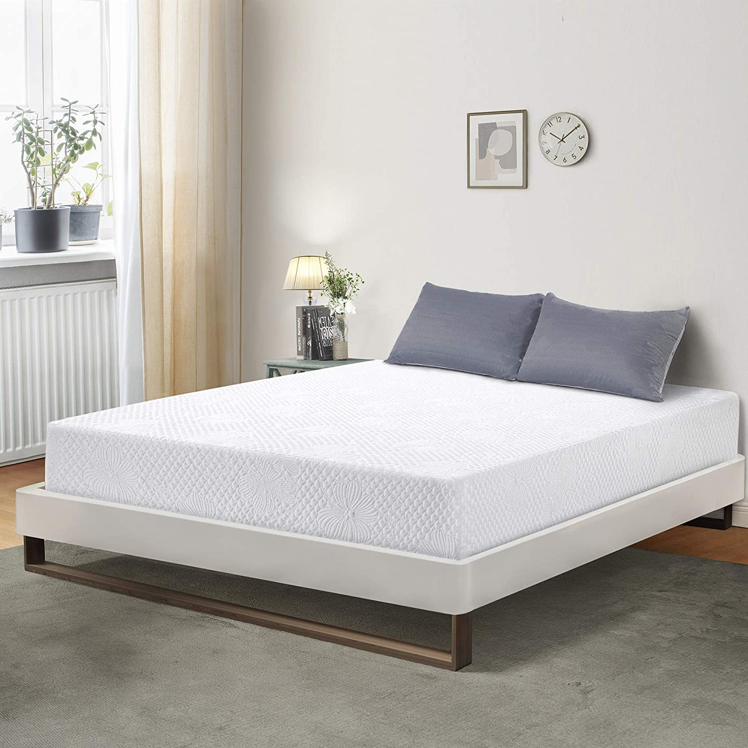 PrimaSleep PR06FM01Q Mattress, Queen, White