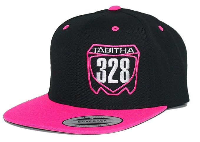 JUST RIDE Custom Personalized Motocross Number Hat Flat Bill Snapback Honda  (Pink Black) 00b224024300