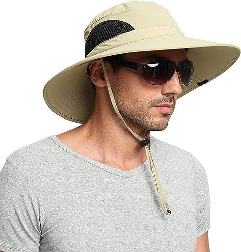 قبعة للوقاية من اشعة الشمس للرجال/النساء من اينسكي، قبعة صيفية بحافة واسعة مضادة للماء وجيدة التهوية وسهلة الحمل لرحلات السفاري والصيد والشاطئ والجولف