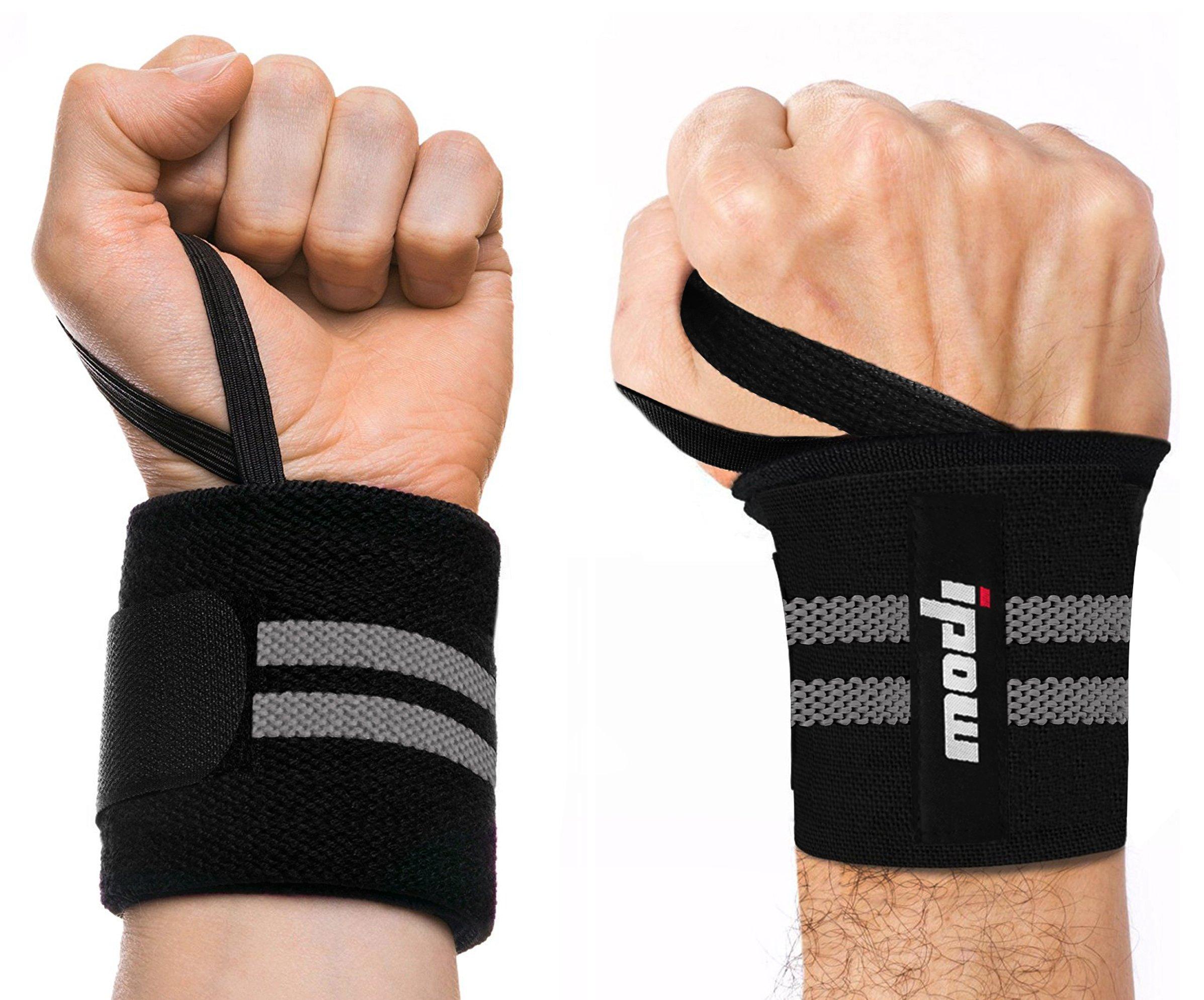 ipow  2 Pcs Protège-Poignet Sport Bracelet Main-Poignet Ceinture Protecteur pour  Gymnastique Culturiste Musculation Aérobic Sports Body-Building 3795564c2d1