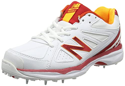 New Balance Men's 4030v2 Cricket Shoes, White (White), 7 UK 40 1