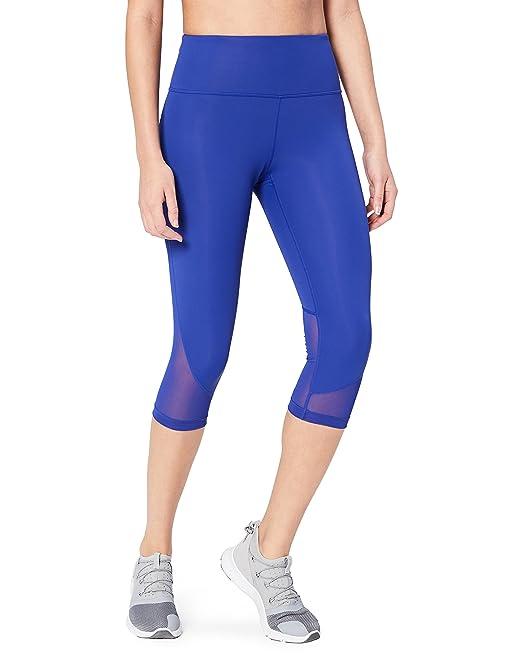 Marca Amazon - Core 10 – Mallas capri para mujer (XS–3X) «Día de la carrera», de cintura alta para correr, 48 cm