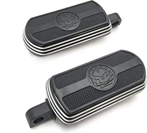 XKMT-Style 106- Black Skull Front & Rear Footpeg Foot Pegs Footrest Compatible With 1984-2017 (Road King/Street Glide/Road Glide) [B01MXMMZQM]