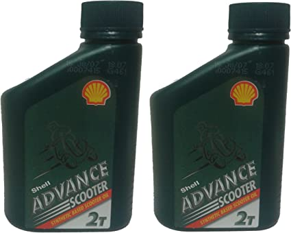 Shell Advance 2 Stroke Semi Aceite sintético 500 ml, Patinete Cortacésped Motosierra (Caja de 2): Amazon.es: Coche y moto