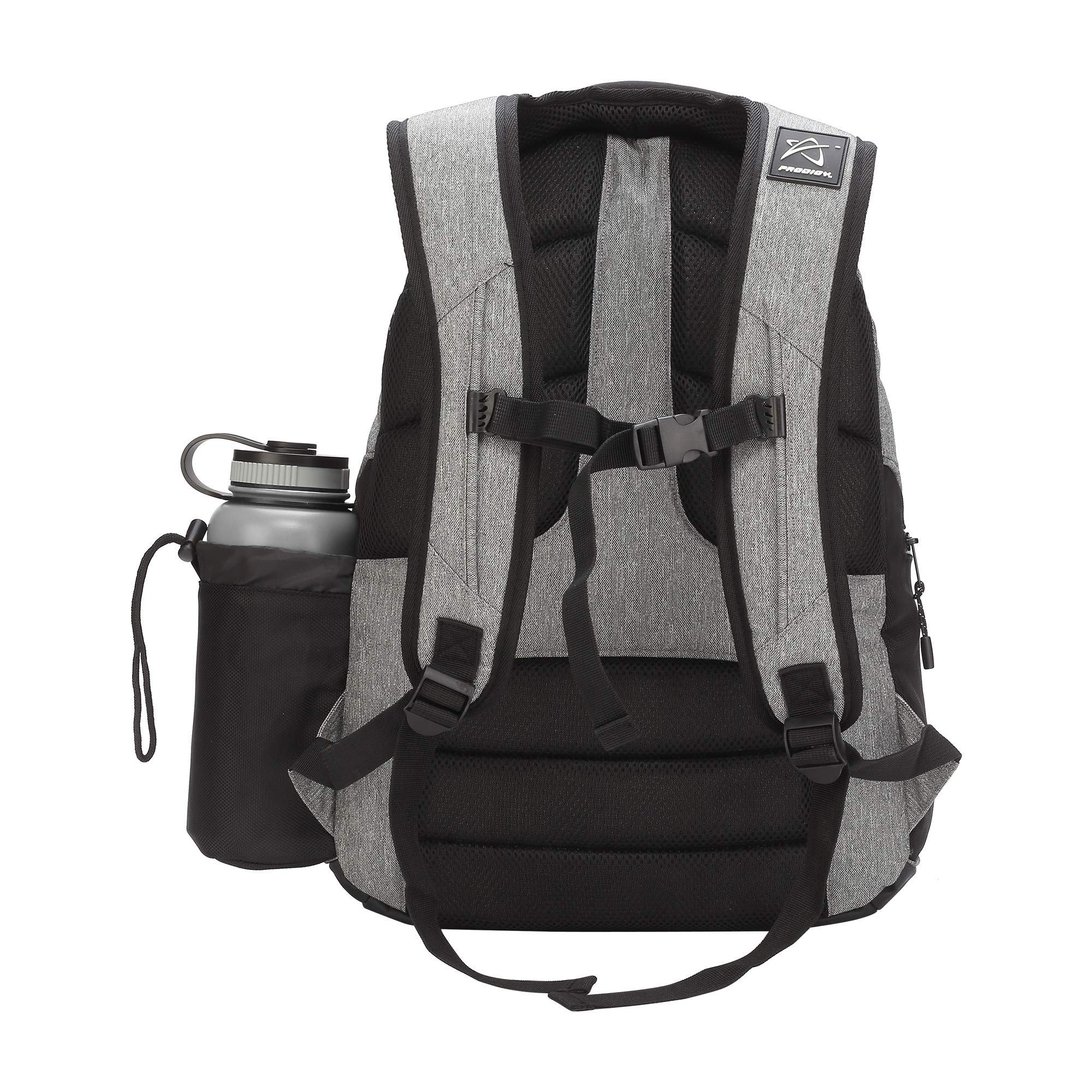 Prodigy Disc BP-3 V2 Disc Golf Backpack - Fits 17 Discs - Beginner Friendly, Affordable (Heather Gray/Black) by Prodigy Disc (Image #2)