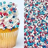 Sprinkles   8 oz   Patriots sprinkles   Red white and blue sprinkles   American sprinkles   Jimmies   Cookie Sprinkles   Cake