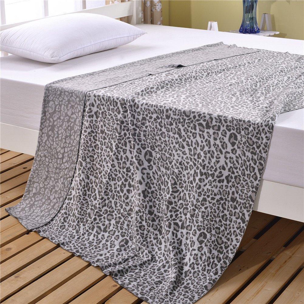 Amazon.com: ktlrr Knit Manta leopard Impreso hilo Manta ...