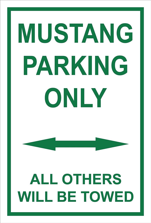 Melis Folienwerkstatt Mustang Parking Only - 30 x 20 cm, 45 x 30 cm, 60 x 40 cm, Trous de perç age pour percer en Mousse Dure Aluminium Trous de perçage pour percer en Mousse Dure Aluminium Melis-Folienwerkstatt