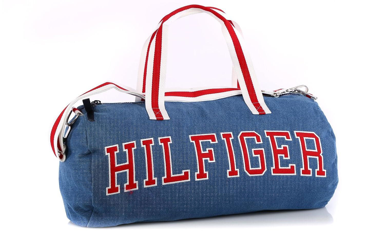 Tommy Hilfiger Duffle Bag Tasche Sporttasche Reisetasche hellblau