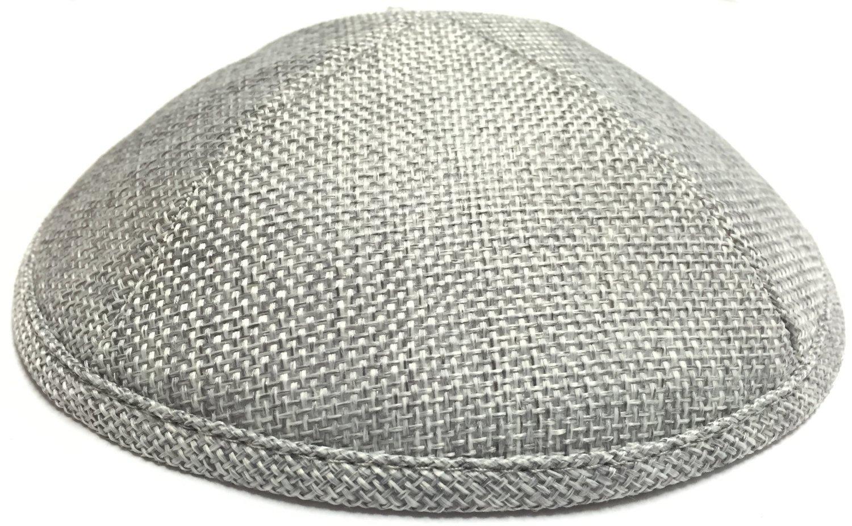 A1 Skullcap Burlap Fabric Kippot Single or Bulk Kippah Optional Custom Imprinting Inside for Your Speacial Event