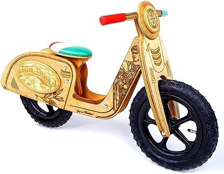 Dynamic Woods Bicicleta sin Pedales para niños y niñas | Bici Madera de 2-3 años Diseñado César: Amazon.es: Juguetes y juegos