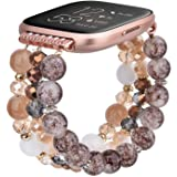 CAGOS Bracelet Compatible with Fitbit Versa 2 Band/Fitbit Versa Bands Women Girls, Handmade Beaded Elastic Replacement…
