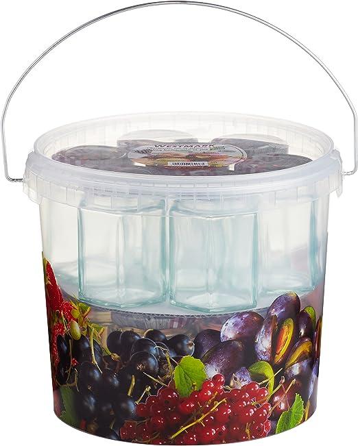 Einmach-Set 15 Einmachgläser Kunststoffeimer Einwecken Einkochen Schraubdeckel