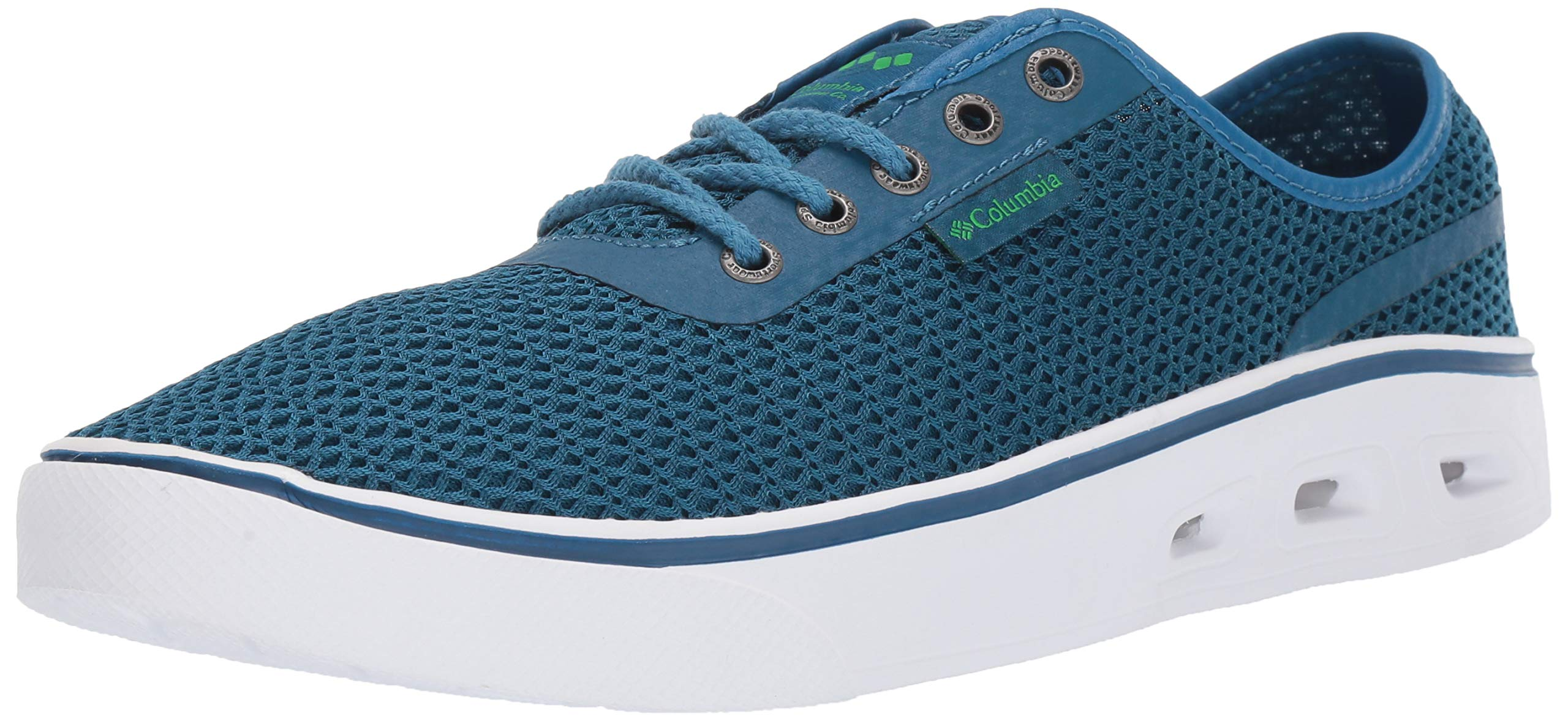 Columbia Men's Spinner Vent Boat Shoe, Phoenix Blue, Clean Green, 10 Regular US by Columbia