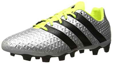 outlet store b2815 d4dd7 adidas Mens ACE 16.4 FxG Soccer Shoe Silver MetallicBlackElectricity 8  ...