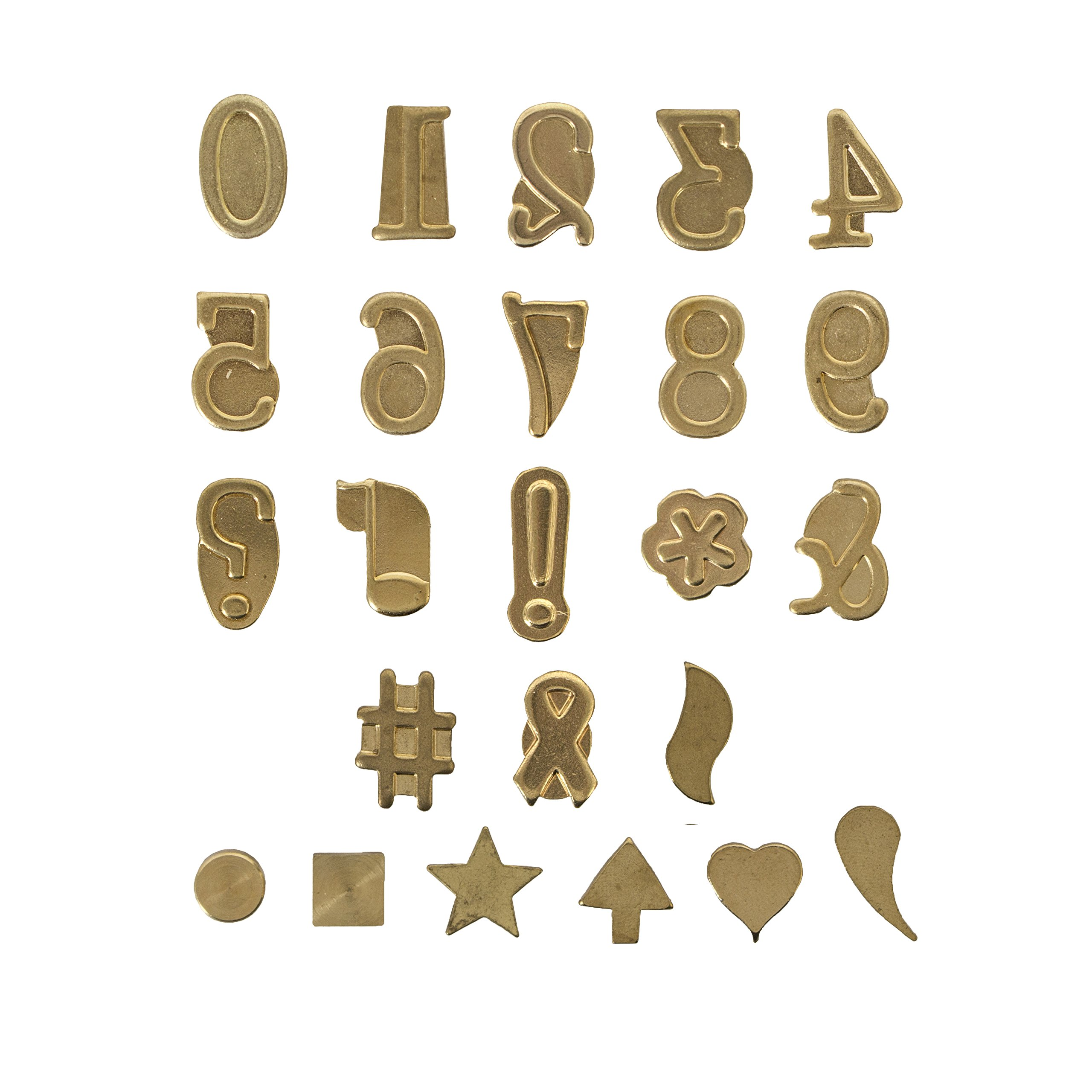 Walnut Hollow Hotstamps Number and Symbol 24 Piece Set for Branding and Personalization on Wood and Leather by Walnut Hollow