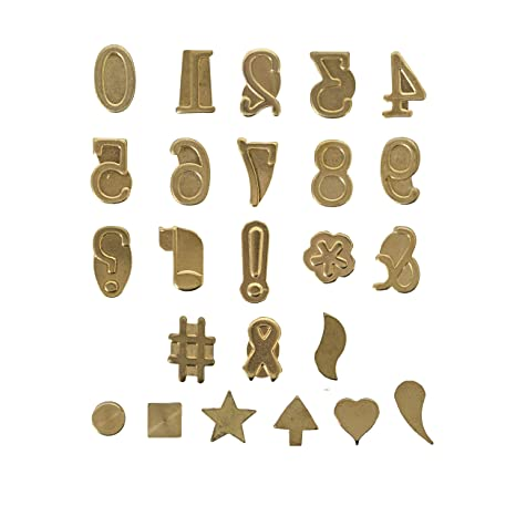 Amazon Walnut Hollow Hotstamps Number And Symbol 24 Piece Set