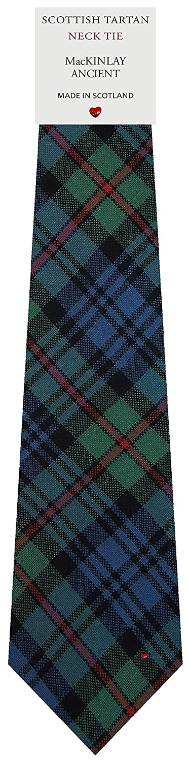 Mens Tie All Wool Made in Scotland MacKinlay Ancient Tartan