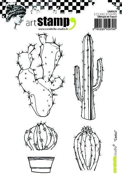 Carabelle Studio Cactus Cling Sello, Caucho, 10.0x14.0x0.5 cm: Amazon.es: Hogar