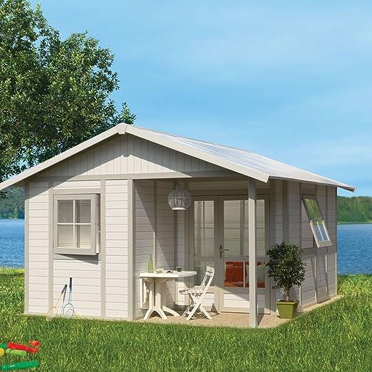 Grosfillex – Abrigo de jardín deco 20B + Kit de anclaje, blanco: Amazon.es: Jardín