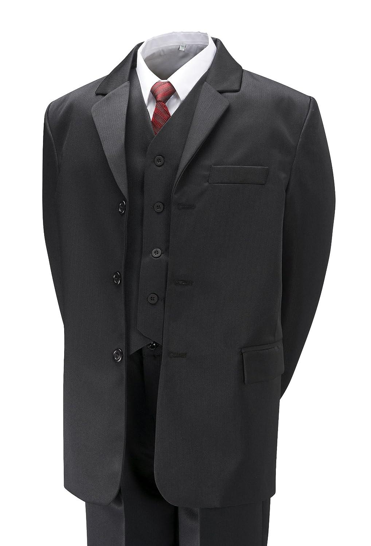 Vestito Elegante da Matrimonio, per Ragazzi, Formale, Include Camicia Bianca e Cravatta Grigia, Età dai 6 Mesi ai 15 Anni