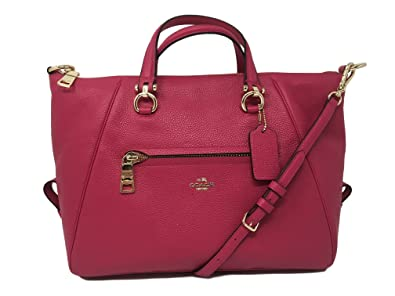 Prairie Satchel Bag in Primrose Calfskin Coach